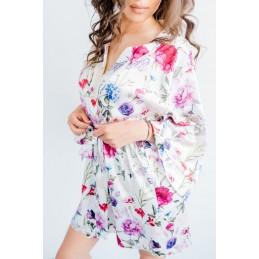Szlafrok kimono flower rose...