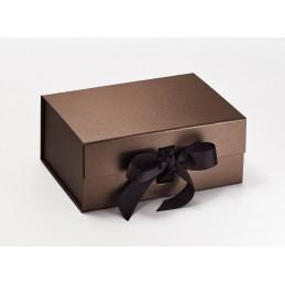 Pudełko ozdobne M - brązowe