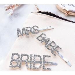 Spinka do włosów BRIDE srebrna