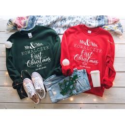 Świąteczne bluzy MR&MRS -...