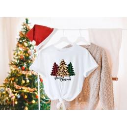 Koszulka świąteczna choinki