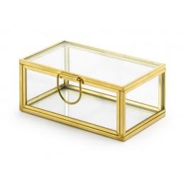 Szklane pudełko na obrączki