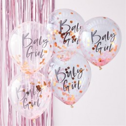 Balony z napisem Baby Girl...